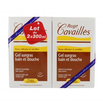 ROGÉ CAVAILLÈS Gel surgras bain et douche sans savon lot de 2 flacon de 300ml - Illustration n°2
