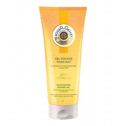 ROGER & GALLET Gel douche tonifiant Bois d'orange flacon 200ml