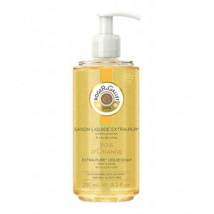 ROGER GALLET Savon Liquide Extra-Pur Bois d'Orange flacon 250ml