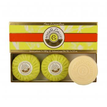 ROGER & GALLET Fleur d'Osmanthus savon parfumé lot de 3 x 100g - Illustration n°1