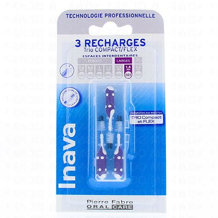 INAVA Brossettes interdentaires larges pack de 3 recharges - Illustration n°1