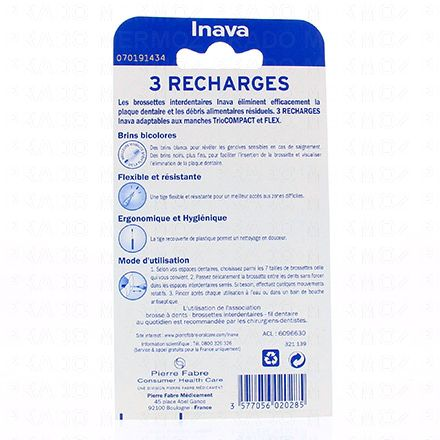 INAVA Brossettes interdentaires larges pack de 3 recharges - Illustration n°2