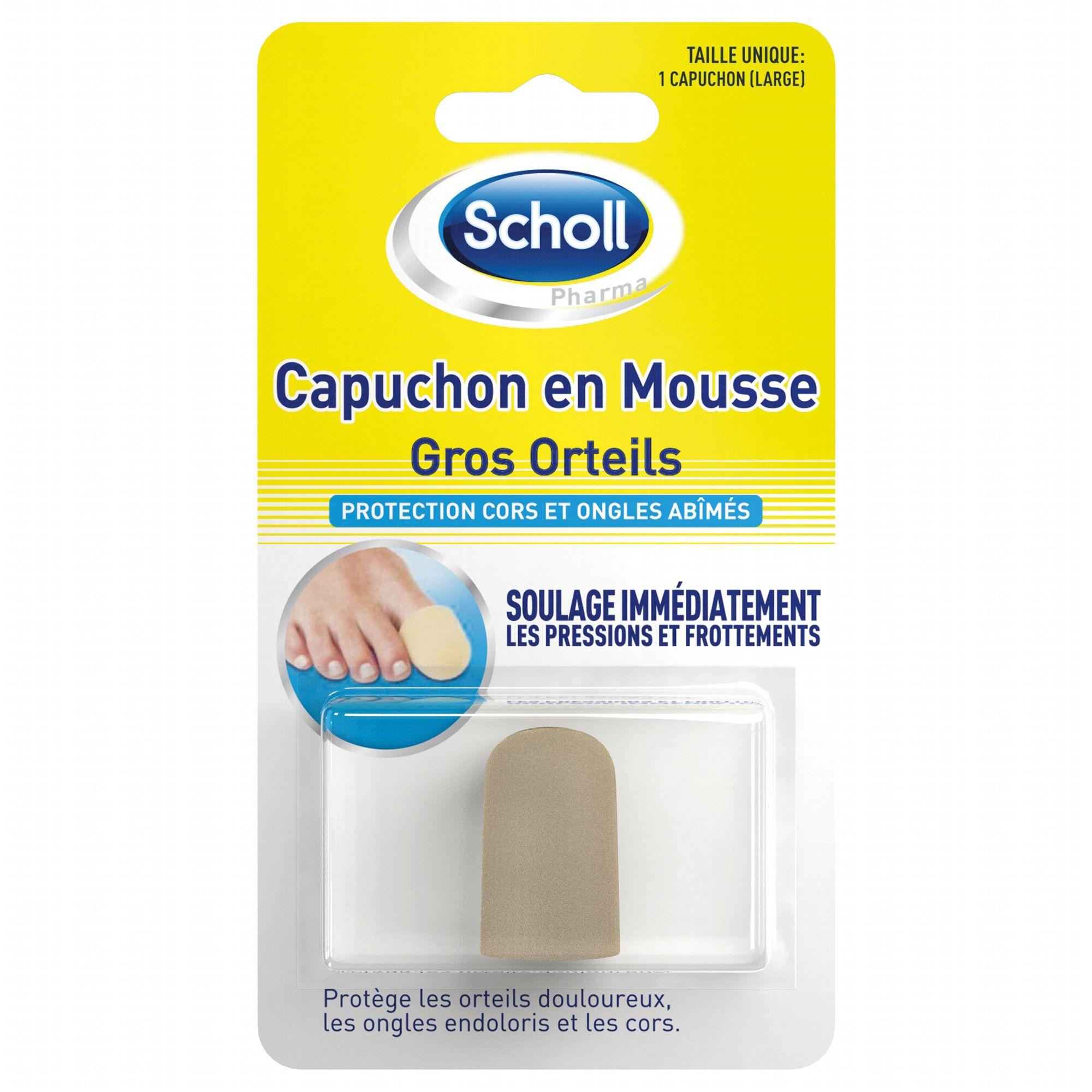 Scholl capuchon en mousse pour gros orteils taille unique for Douleur interieur pied droit