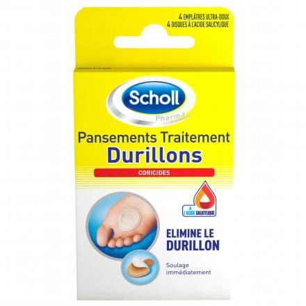SCHOLL Pansements coricides pour durillons lot de 4