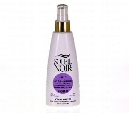 SOLEIL NOIR Lait vitaminé SPF30 spray 150ml  - Illustration n°1
