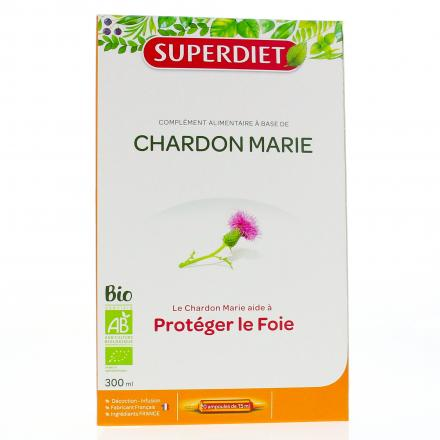 SUPER DIET Chardon marie bio 20 ampoules - Illustration n°1