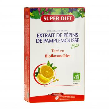 SUPER DIET Extrait de pépins de pamplemousse bio 20 ampoules - Illustration n°1