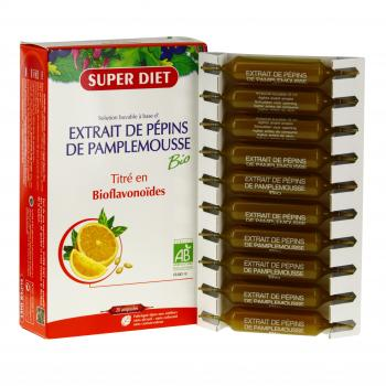 SUPER DIET Extrait de pépins de pamplemousse bio 20 ampoules - Illustration n°2
