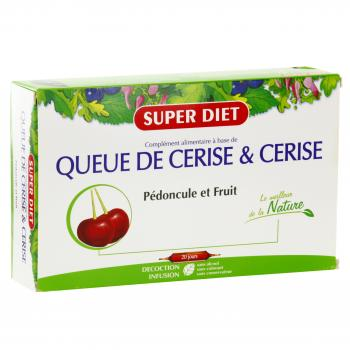 SUPER DIET Queue de cerise & cerise bio 20 ampoules