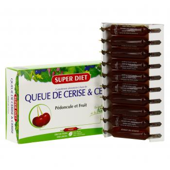 SUPER DIET Queue de cerise & cerise bio 20 ampoules - Illustration n°2
