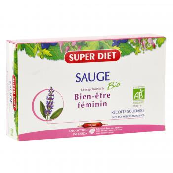 SUPER DIET Sauge bio 20 ampoules - Illustration n°1