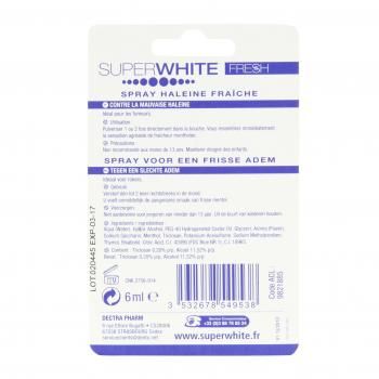 SUPERWHITE Spray haleine fraîche menthe fraîche spray 6ml - Illustration n°2