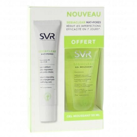 SVR Sebiaclear mat+pores 40ml + Gel moussant 50ml OFFERT  - Illustration n°1
