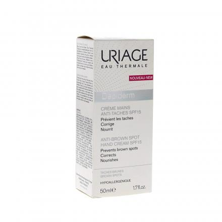 URIAGE Dépiderm crème mains SPF15 tube 50ml - Illustration n°1