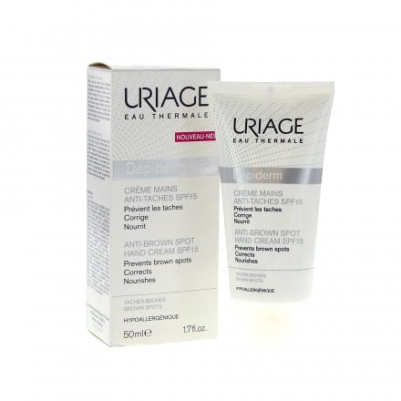 URIAGE Dépiderm crème mains SPF15 tube 50ml - Illustration n°2