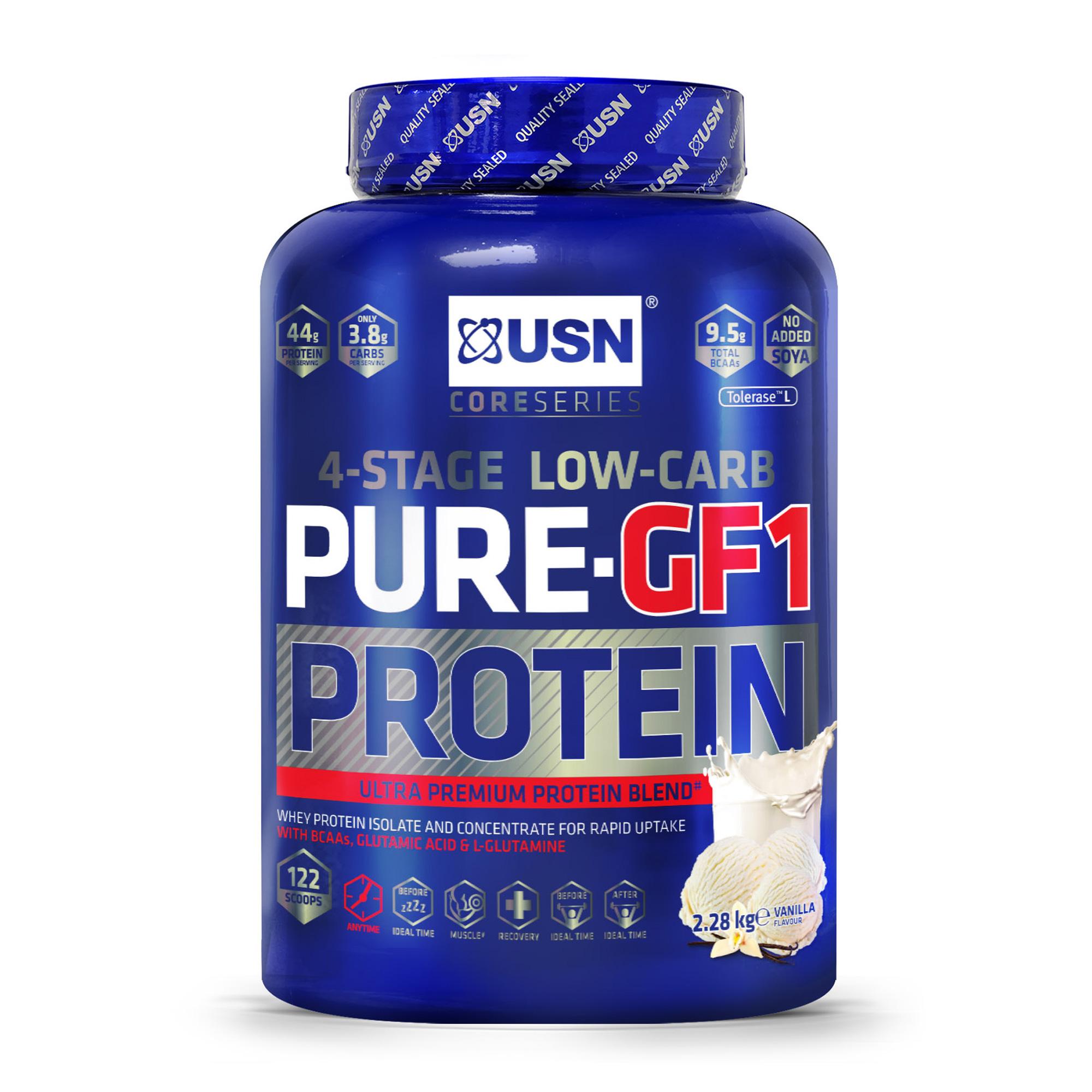 USN Pure-GF1 protein saveur vanille pot 1kg