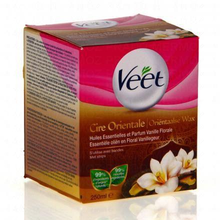 veet cire orientale huiles essentielles vanille pot 250ml 12 bandes parapharmacie en ligne. Black Bedroom Furniture Sets. Home Design Ideas
