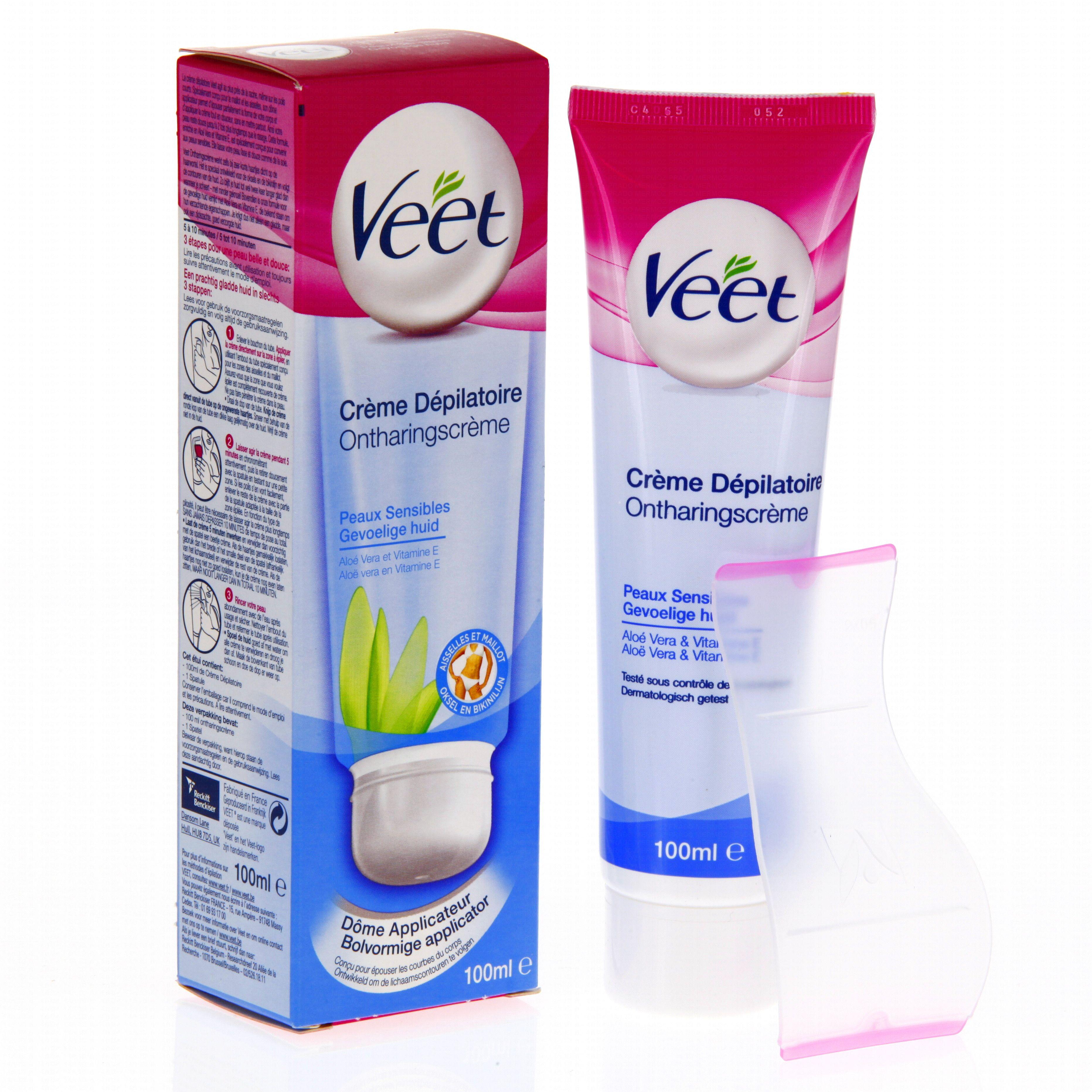 VEET Crème dépilatoire maillot aisselles peaux sensibles