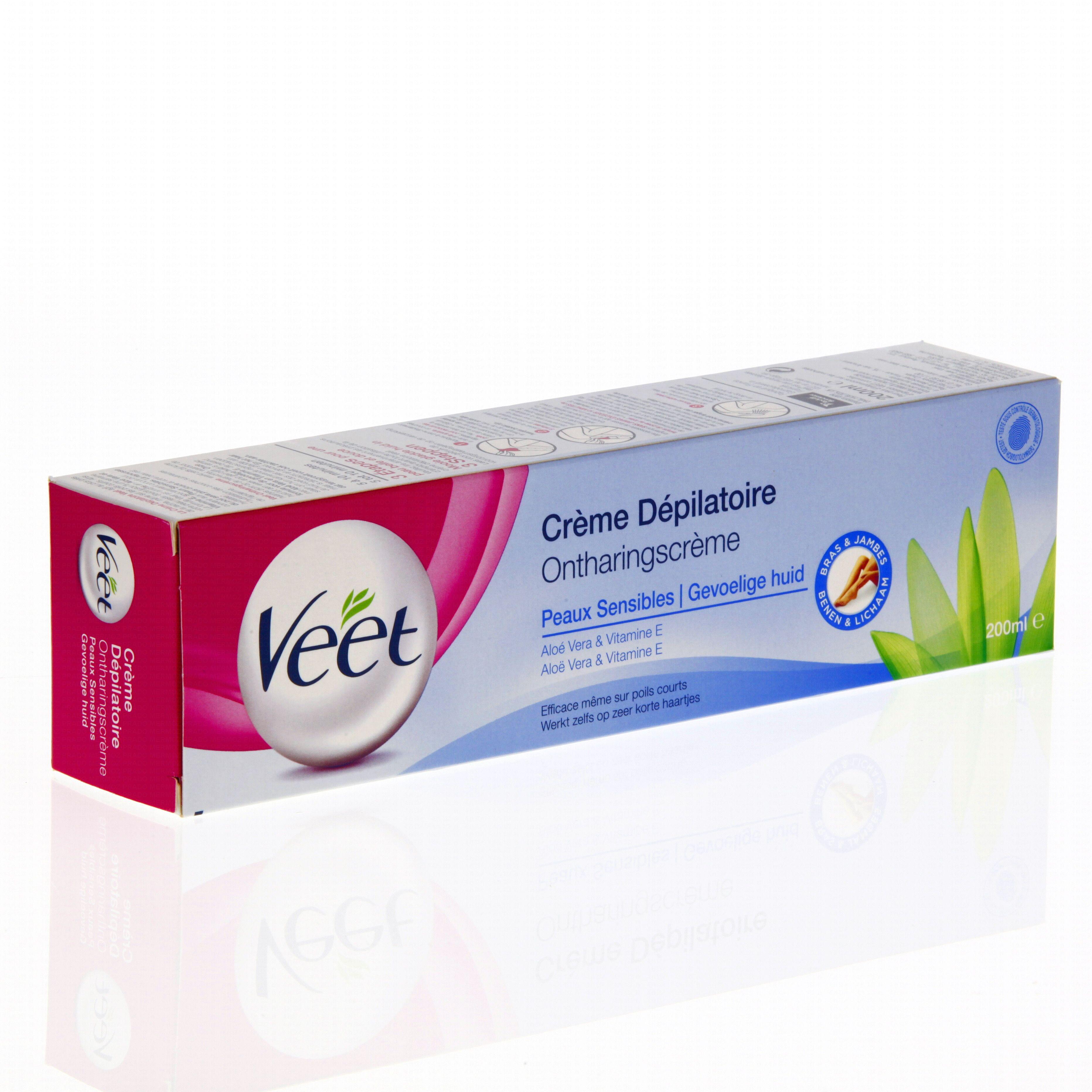 VEET Crème dépilatoire peaux sensibles tube 200ml