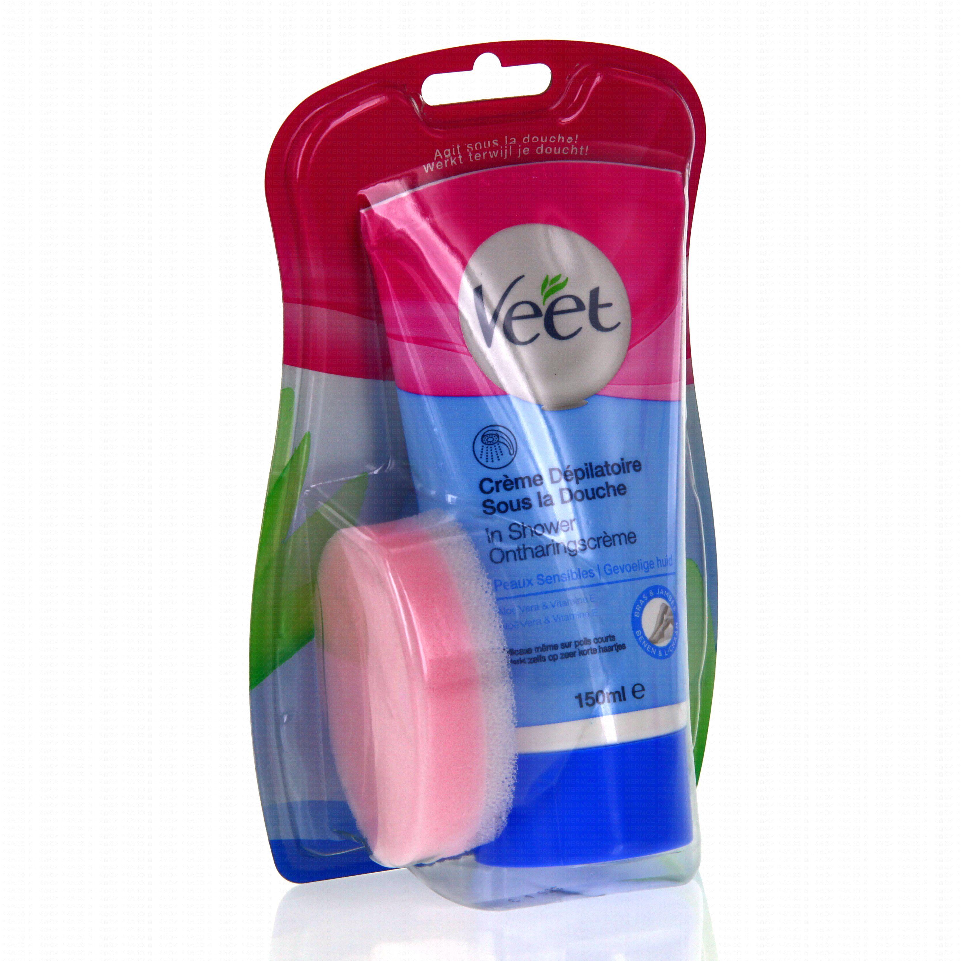Veet cr me d pilatoire sous la douche peaux sensibles tube - Veet creme depilatoire sous la douche ...