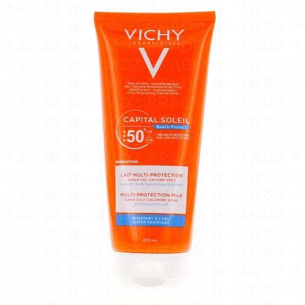 VICHY Capital soleil lait multiprotection SPF50 tube 200ml - Illustration n°1
