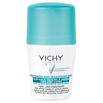 VICHY Déodorant traitement anti-transpirant 48h anti-traces blanches & jaunes (roll'on 50ml)