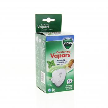 VICKS Comforting vapors diffuseur + 5 recharges