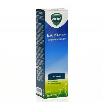 VICKS Eau de Mer Nez bouché spray nasal hypertonique 100ml