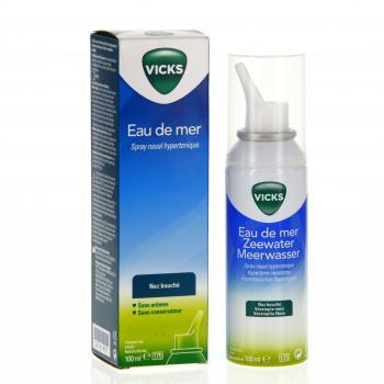 VICKS Eau de Mer Nez bouché spray nasal hypertonique 100ml - Illustration n°2