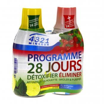 ARKOPHARMA 4.3.2.1 Programme Minceur 28 jours lot 2 flacons 280ml Acérola/Cranberry-Citron  - Illustration n°1