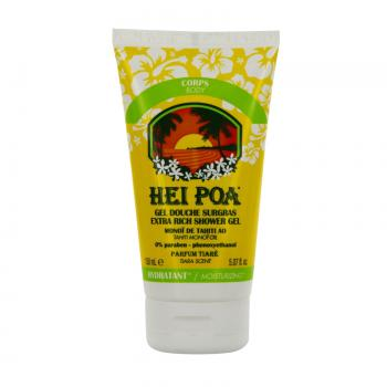 HEI POA Gel douche surgras monoï de tahiti / fleur de tiaré tube 150ml - Illustration n°1