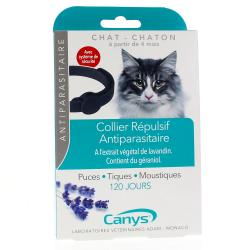 CANYS Collier anti-parasitaire chat et chaton 35 cm