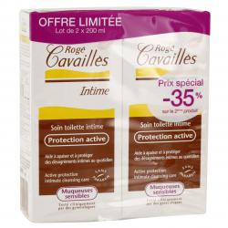 ROGÉ CAVAILLÈS Soin toilette intime protection active lot de 2 flacons de 200ml