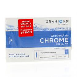GRANIONS de CHROME lot de 2 (x 30)