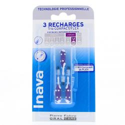 INAVA Brossettes interdentaires larges pack de 3 recharges