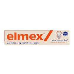 ELMEX Dentifrice compatible homéopathie sans menthol tube 75ml