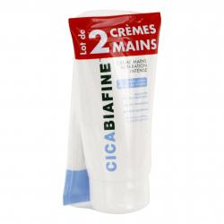 CICA BIAFINE Crème mains réparation intense lot de 2 tubes 75ml