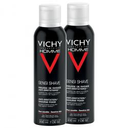 VICHY Homme mousse à raser anti-irritations lot de 2 x 200ml