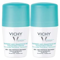 VICHY Déodorant traitement anti-transpirant 48h transpiration intense lot de 2 x 50ml