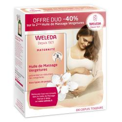 WELEDA Huile de massage vergetures lot de 2 flacons de 100ml