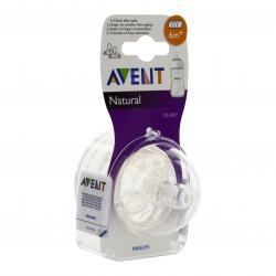 AVENT Tétine natural débit rapide lot de 2