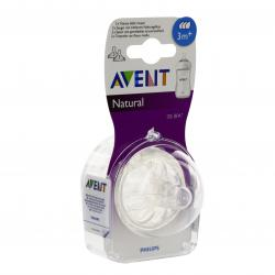 AVENT Natural tétines débit moyen lot de 2