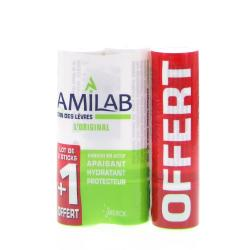 AMILAB Baume lèvres lot de 3 sticks 3.6ml dont un offert