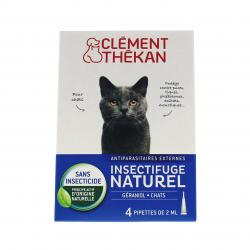 CLEMENT THEKAN Spot-on insectifuge naturel chat 4 pipettes de 2.5ml