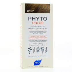 PHYTO Color n°8 BLOND CLAIR coloration permanente enrichie en pigments végétau