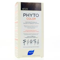 PHYTO Color n°6 BLOND FONCE coloration permanente enrichie en pigments végétaux