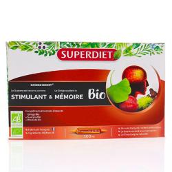 SUPER DIET Ginkgo performances intellectuelles bio boîte 20 ampoules