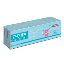 CATTIER Kids Bio dentifrice 2-6 ans goût framboise tube 50ml