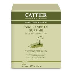 CATTIER Argile verte surfine bio pot 1kg