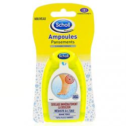 SCHOLL Pansements ampoules double protection grands formats talons lot de 5
